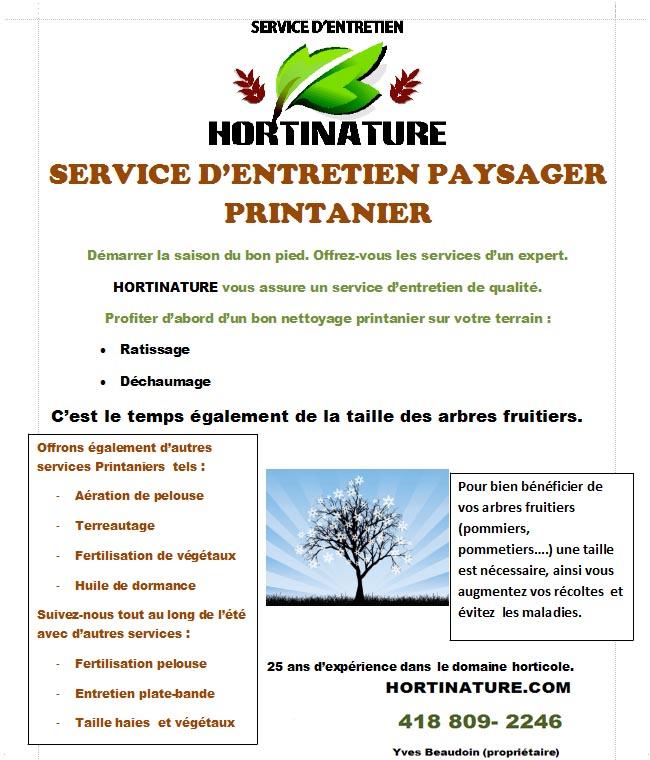 Service entretien hortinature promotions for Service entretien pelouse